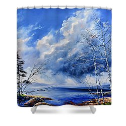 Shower Curtain featuring the painting Listen To The Rhythm by Hanne Lore Koehler