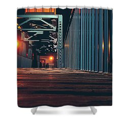 Shower Curtain featuring the photograph Lit Up by Viviana  Nadowski