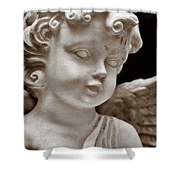 Little Angel - Sepia Shower Curtain by Christopher Holmes