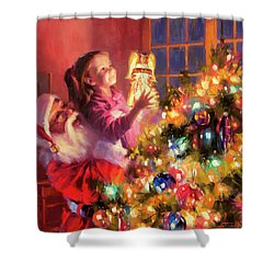 Shower Curtain featuring the painting Little Angel Bright by Steve Henderson