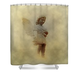 Little Angel In The Clouds Shower Curtain by Bill Cannon