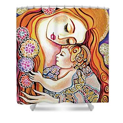 Little Angel Sleeping Shower Curtain