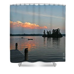 Little Bald Lake Shower Curtain