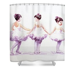 Little Ballerinas-3 Shower Curtain