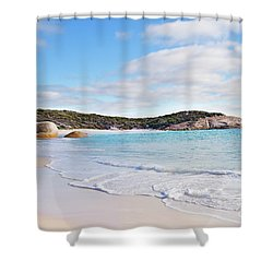 Shower Curtain featuring the photograph Little Beach, Australia by Ivy Ho