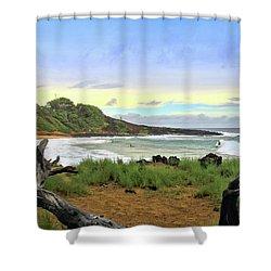 Shower Curtain featuring the photograph Little Beach by DJ Florek
