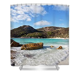 Shower Curtain featuring the photograph Little Beach Two Peoples Bay Nature Reserve by Ivy Ho