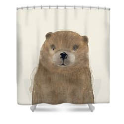 Shower Curtain featuring the painting Little Beaver by Bri B