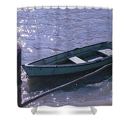 Little Blue Boat Shower Curtain