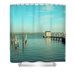 Shower Curtain featuring the photograph Little Boat House On The River by Colleen Kammerer