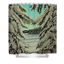 Little Brook Cove Shower Curtain