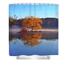 Little Cedar Lake Shower Curtain