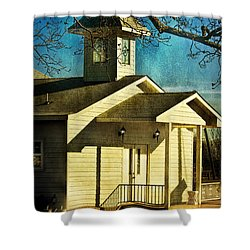 Shower Curtain featuring the photograph Little Church by Joan Bertucci
