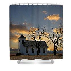Little Church On The Prairie Shower Curtain