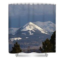 Little Cone Peak Colorado Shower Curtain