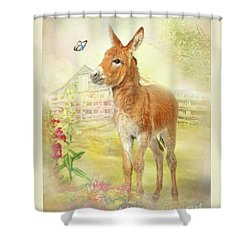 Little Donkey Shower Curtain