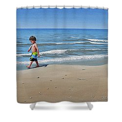 Little Explorer Shower Curtain by Kenneth M  Kirsch
