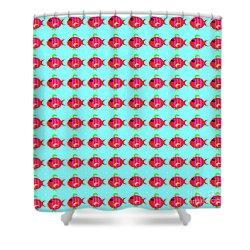 Little Fish Pattern Shower Curtain
