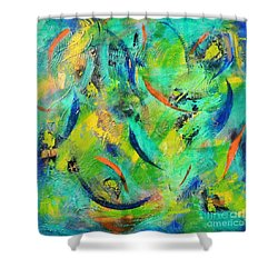 Little Fishes Shower Curtain