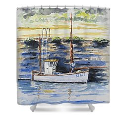 Little Fishing Boat Shower Curtain