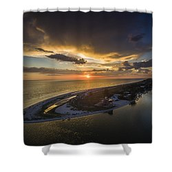Little Gasparilla Island Point Sunset Shower Curtain