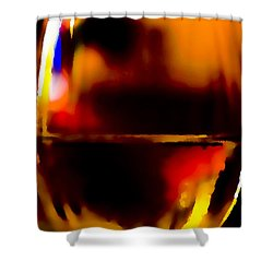 Little Glass Of Wine Shower Curtain by Stephen Anderson
