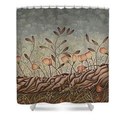 Little Gods Shower Curtain by Judy Henninger