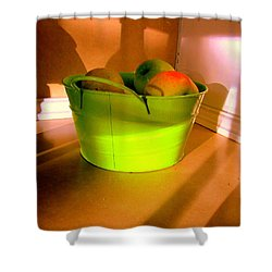 Little Green Apples Shower Curtain