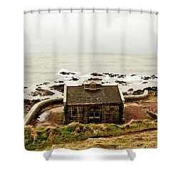 Little House At The Nigg Bay. Shower Curtain