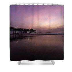 Little Island Sunrise Shower Curtain