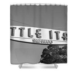 Little Italy Monochrome Shower Curtain by Joseph S Giacalone
