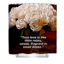 Little Love Roses Shower Curtain