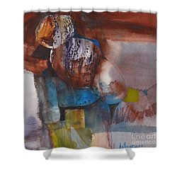 Little Man Shower Curtain by Donna Acheson-Juillet