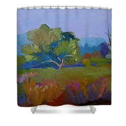 Shower Curtain featuring the painting Little Miami Meadow by Francine Frank