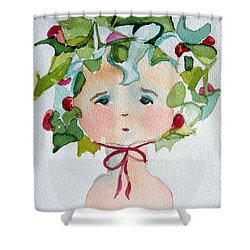 Little Miss Innocent Ivy Shower Curtain by Mindy Newman