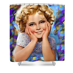 Little Miss Shirley Shower Curtain