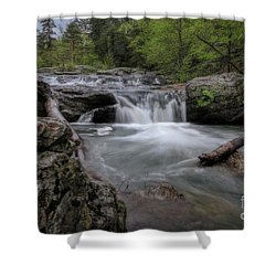 Little Missouri Falls Shower Curtain