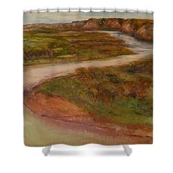 Little Missouri Overlook  Shower Curtain