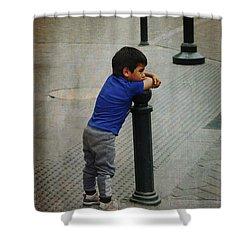 Little Peruvian Boy Shower Curtain