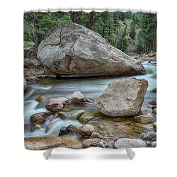 Shower Curtain featuring the photograph Little Pine Tree Stream View by James BO Insogna