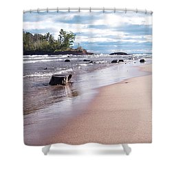 Little Presque Isle Shower Curtain