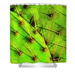 Prickly Pear Shower Curtain by Paul Wear