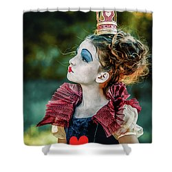Shower Curtain featuring the photograph Little Princess Of Hearts Alice In Wonderland by Dimitar Hristov