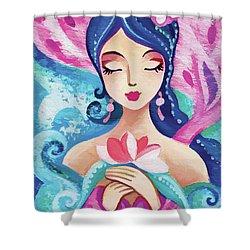 Little Quan Yin Mermaid Shower Curtain