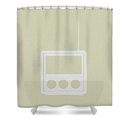Little Radio Shower Curtain by Naxart Studio
