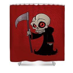 Little Reaper Shower Curtain by John Schwegel