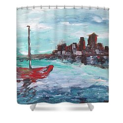 Coast Shower Curtain by Roxy Rich