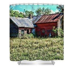 Little Red Farmhouse Shower Curtain by Paul Ward