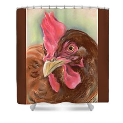 Little Red Hen Shower Curtain