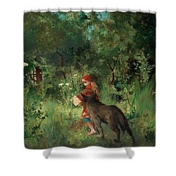 Little Red Riding Hood Shower Curtain by Mountain Dreams